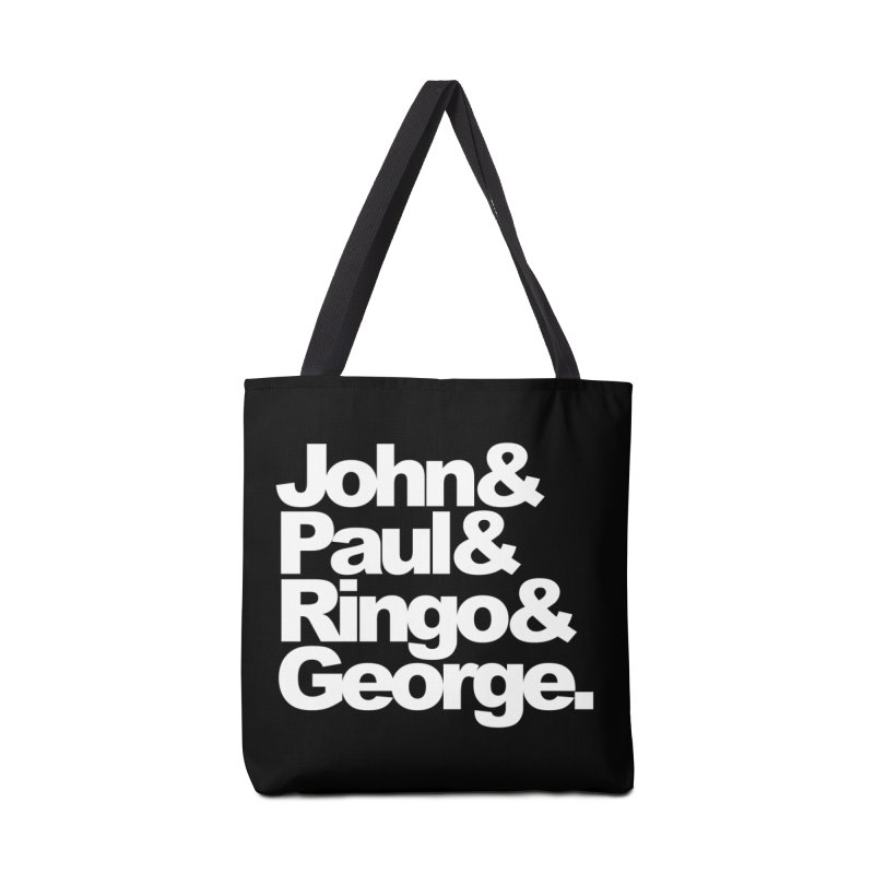 John and Paul and Ringo and George - black background Accessories Bag by ALMA VISUAL's Artist Shop
