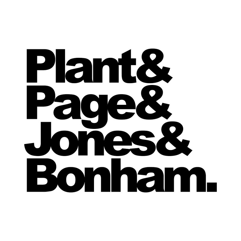 Plant and Page and Jones and Bonham None  by ALMA VISUAL's Artist Shop