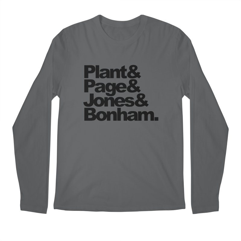 Plant and Page and Jones and Bonham Men's Longsleeve T-Shirt by ALMA VISUAL's Artist Shop
