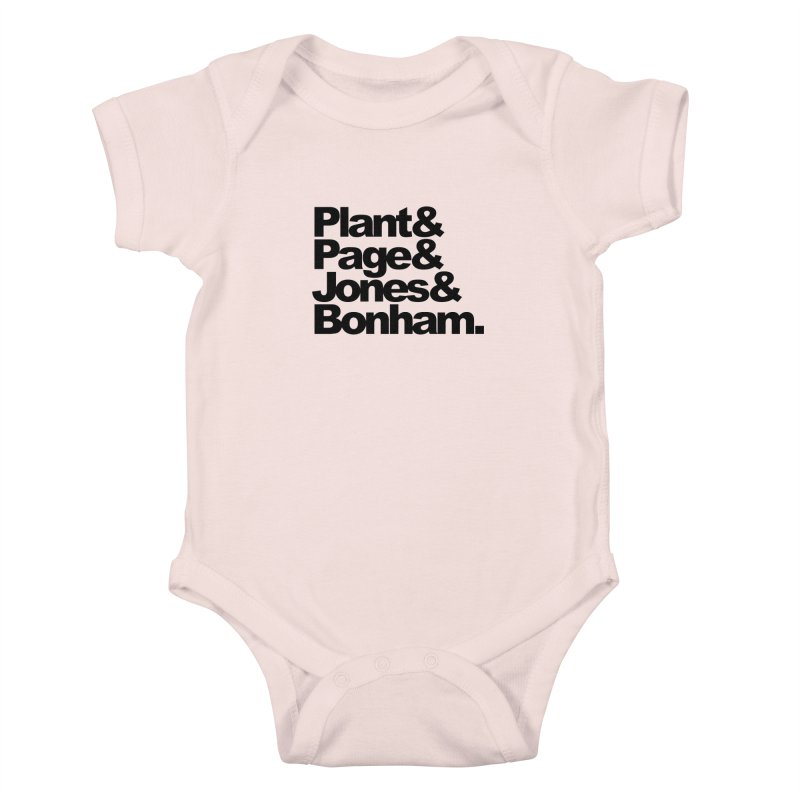Plant and Page and Jones and Bonham Kids Baby Bodysuit by ALMA VISUAL's Artist Shop