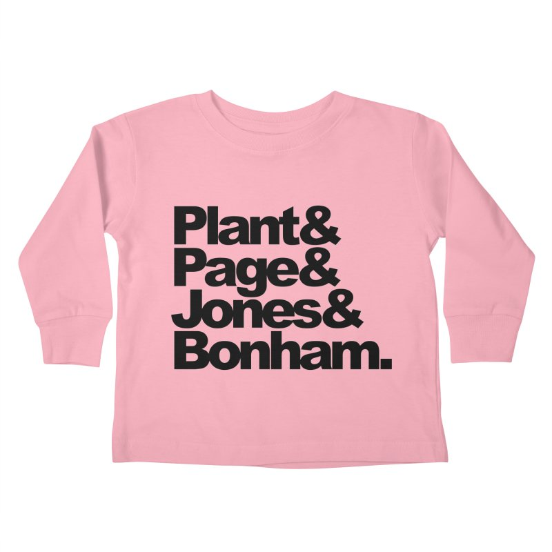 Plant and Page and Jones and Bonham Kids Toddler Longsleeve T-Shirt by ALMA VISUAL's Artist Shop