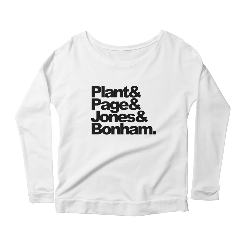 Plant and Page and Jones and Bonham Women's Longsleeve Scoopneck  by ALMA VISUAL's Artist Shop