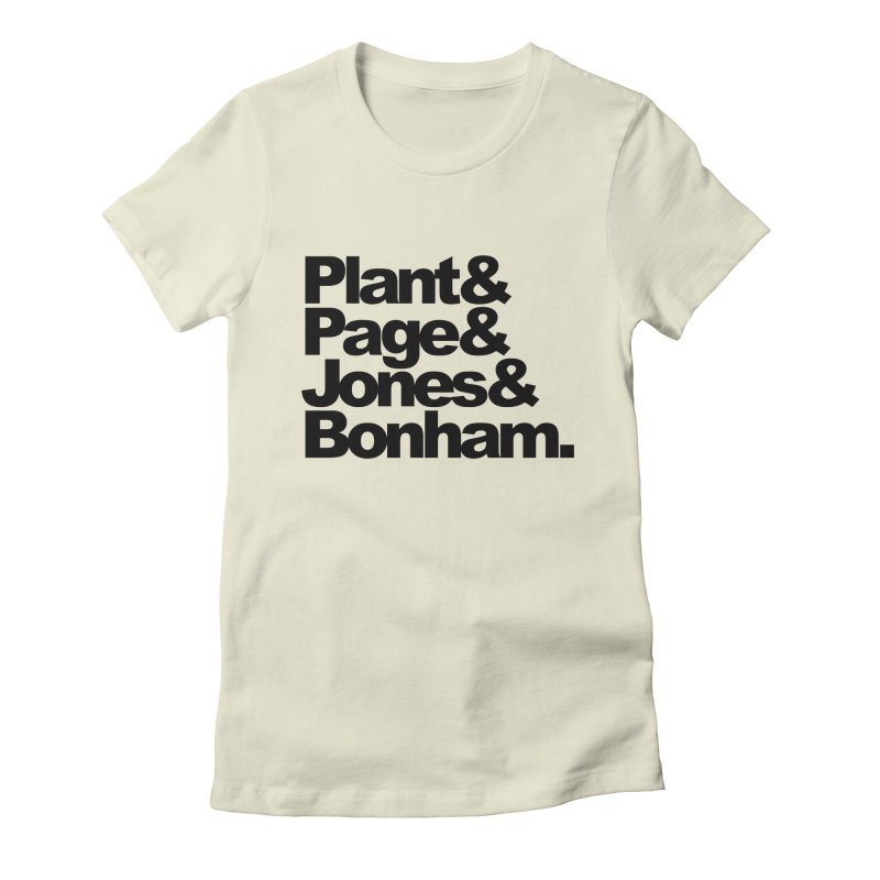 Plant and Page and Jones and Bonham Women's Fitted T-Shirt by ALMA VISUAL's Artist Shop