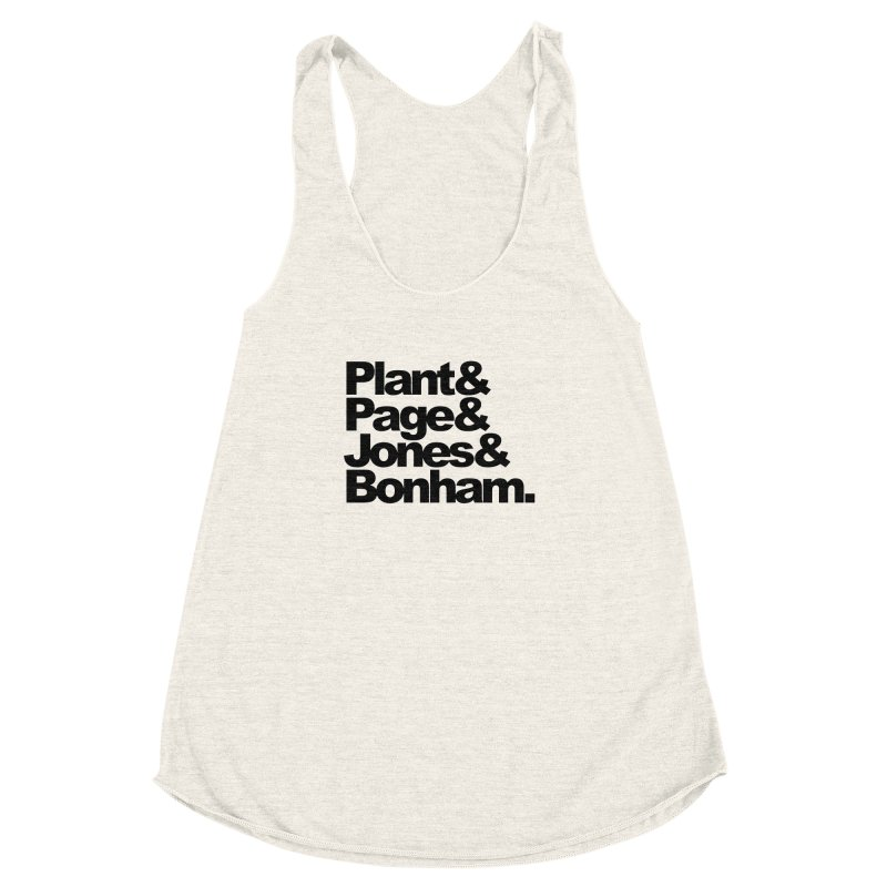 Plant and Page and Jones and Bonham Women's Racerback Triblend Tank by ALMA VISUAL's Artist Shop