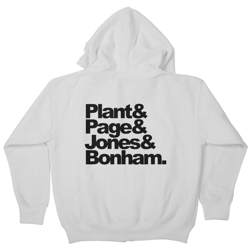 Plant and Page and Jones and Bonham Kids Zip-Up Hoody by ALMA VISUAL's Artist Shop