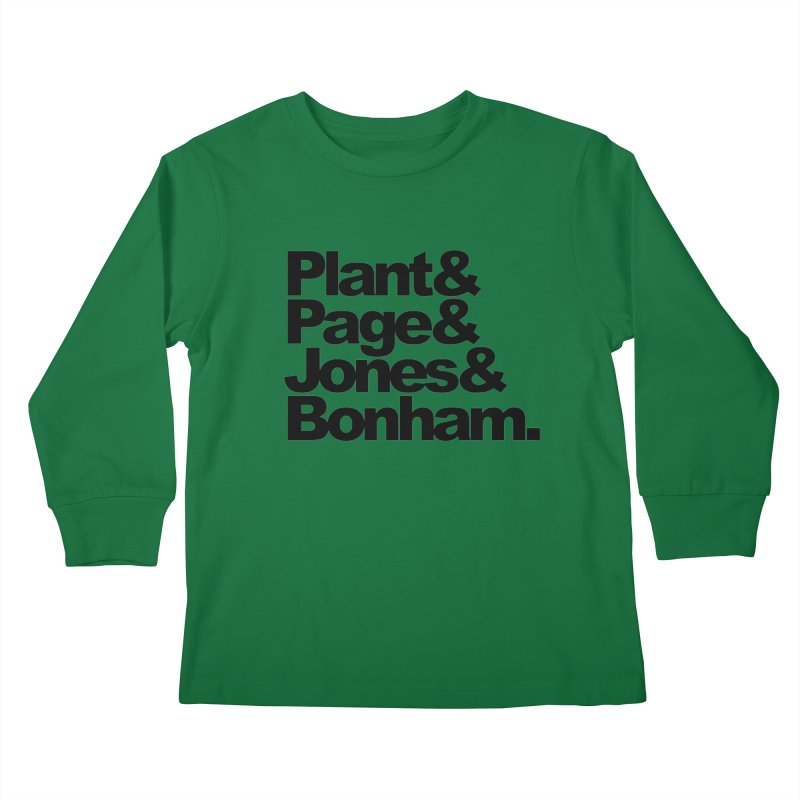 Plant and Page and Jones and Bonham Kids Longsleeve T-Shirt by ALMA VISUAL's Artist Shop