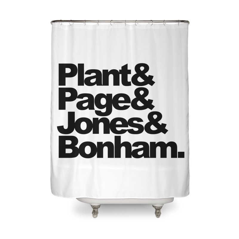 Plant and Page and Jones and Bonham Home Shower Curtain by ALMA VISUAL's Artist Shop