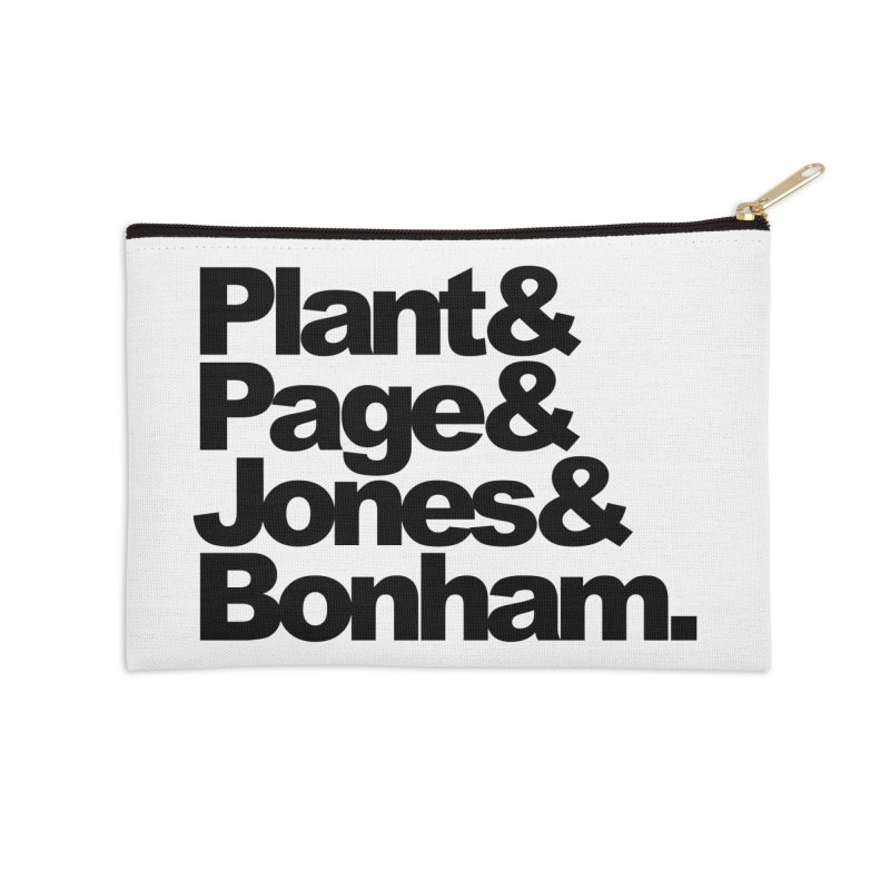 Plant and Page and Jones and Bonham Accessories Zip Pouch by ALMA VISUAL's Artist Shop