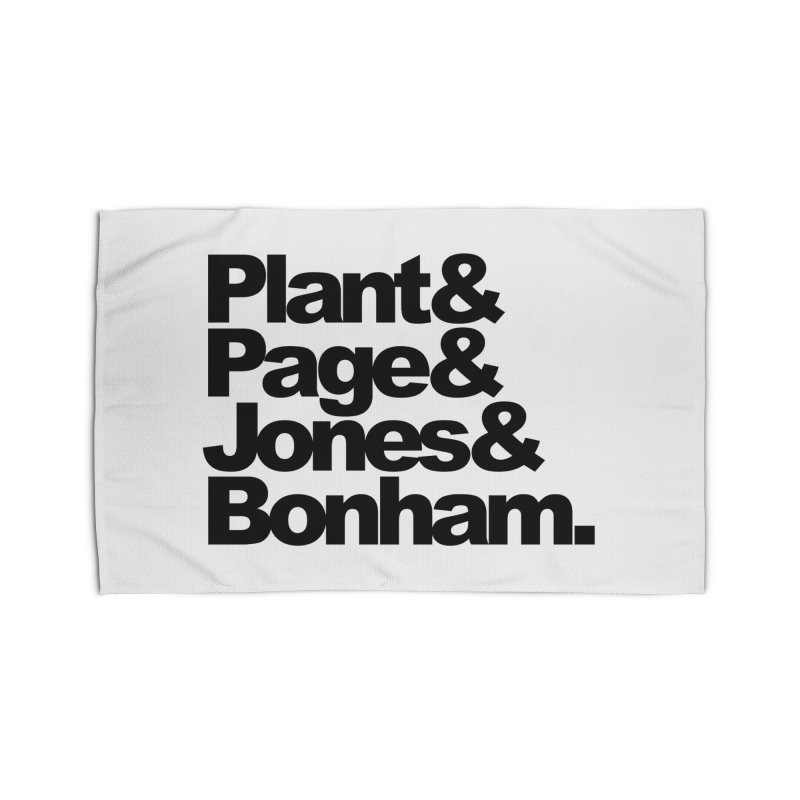 Plant and Page and Jones and Bonham Home Rug by ALMA VISUAL's Artist Shop