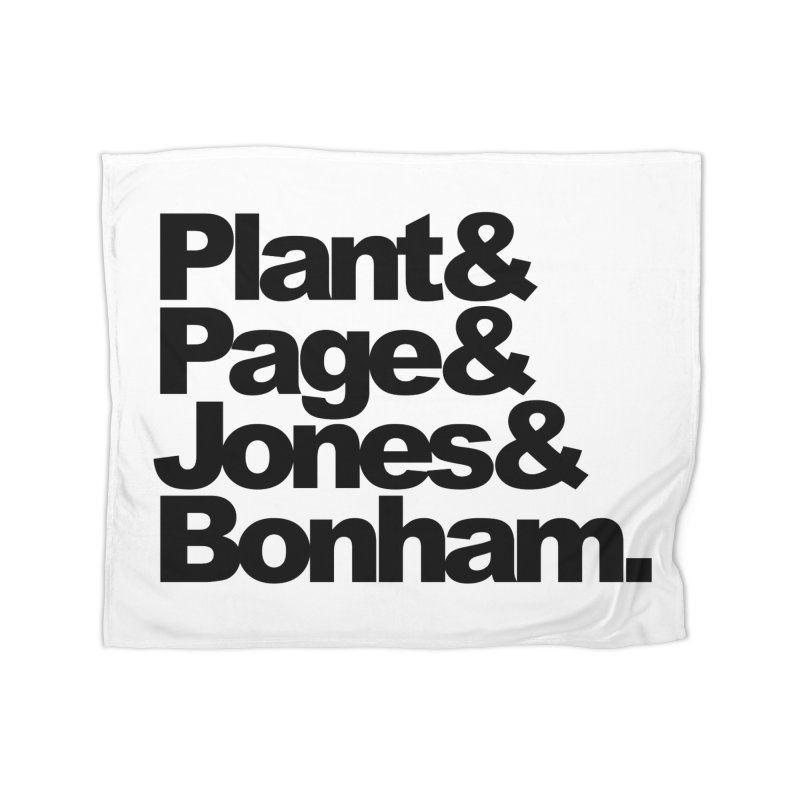 Plant and Page and Jones and Bonham Home Blanket by ALMA VISUAL's Artist Shop
