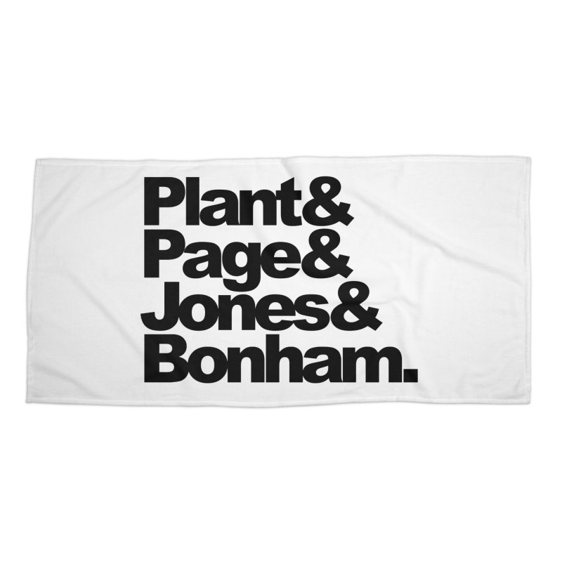Plant and Page and Jones and Bonham Accessories Beach Towel by ALMA VISUAL's Artist Shop