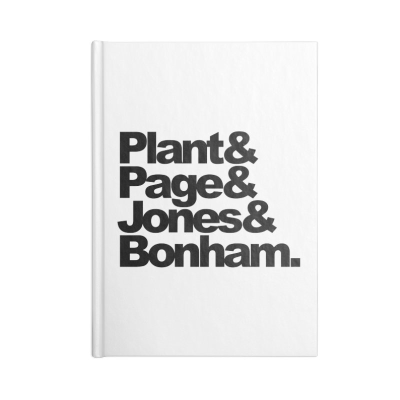 Plant and Page and Jones and Bonham Accessories Notebook by ALMA VISUAL's Artist Shop