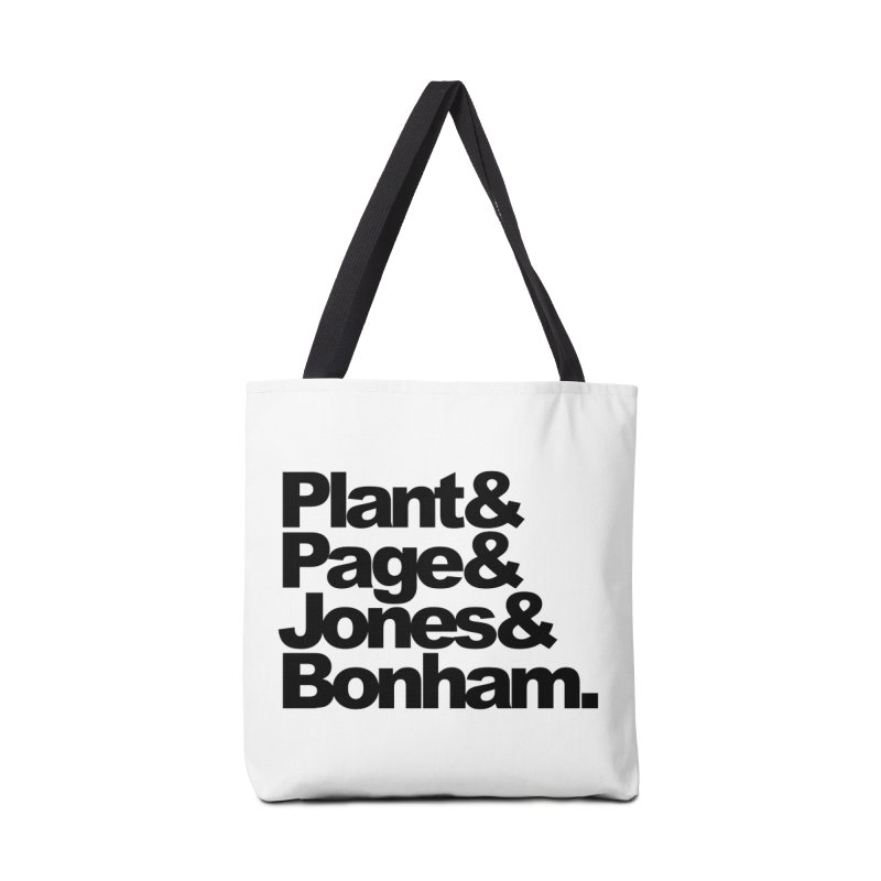 Plant and Page and Jones and Bonham Accessories Bag by ALMA VISUAL's Artist Shop