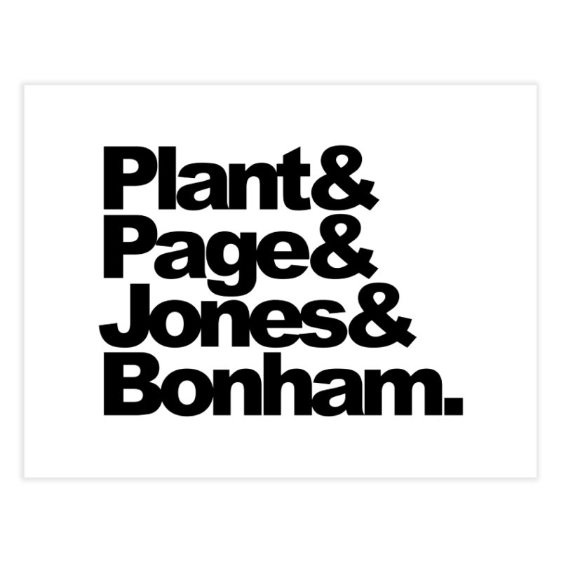 Plant and Page and Jones and Bonham Home Fine Art Print by ALMA VISUAL's Artist Shop