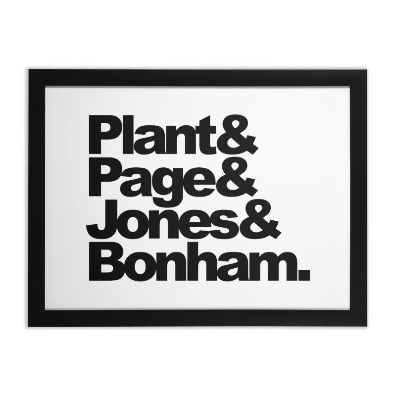 Plant and Page and Jones and Bonham Home Framed Fine Art Print by ALMA VISUAL's Artist Shop
