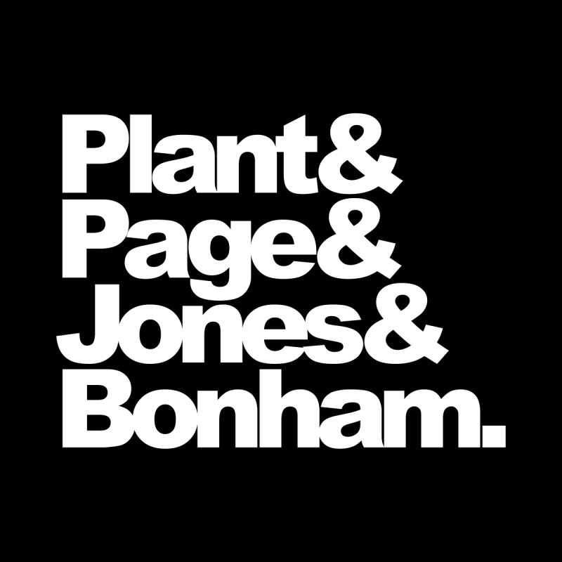 Plant and Page and Jones and Bonham - black background None  by ALMA VISUAL's Artist Shop