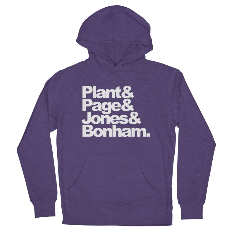 Plant and Page and Jones and Bonham - black background Women's Pullover Hoody by ALMA VISUAL's Artist Shop