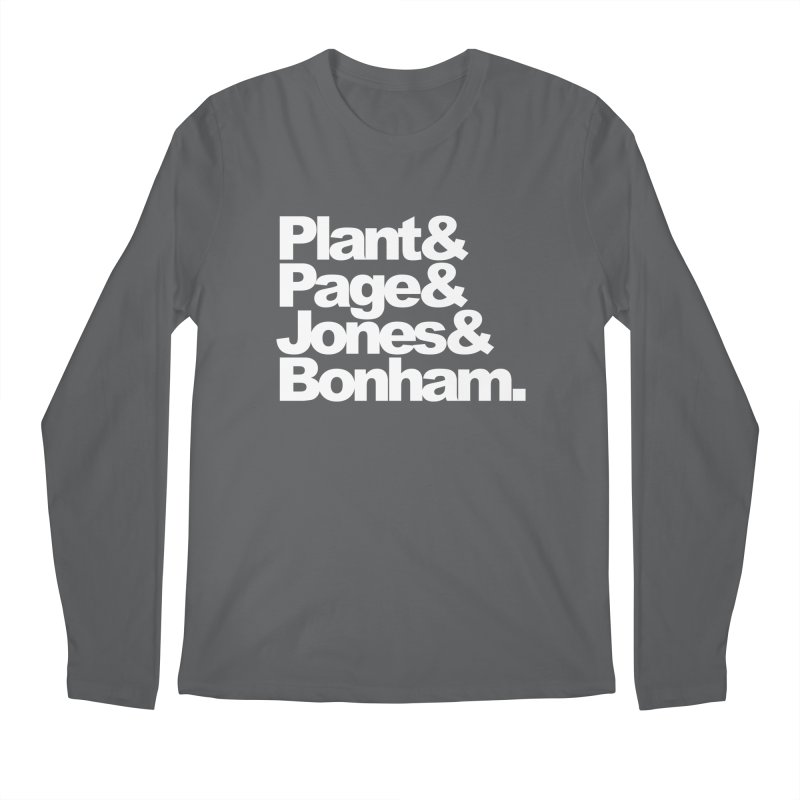 Plant and Page and Jones and Bonham - black background Men's Longsleeve T-Shirt by ALMA VISUAL's Artist Shop