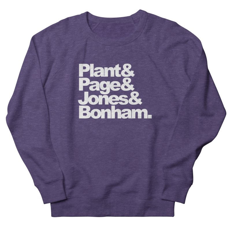 Plant and Page and Jones and Bonham - black background Men's Sweatshirt by ALMA VISUAL's Artist Shop