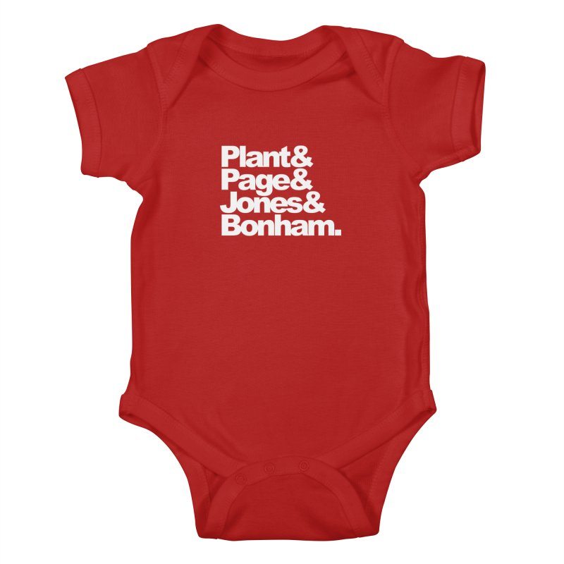 Plant and Page and Jones and Bonham - black background Kids Baby Bodysuit by ALMA VISUAL's Artist Shop