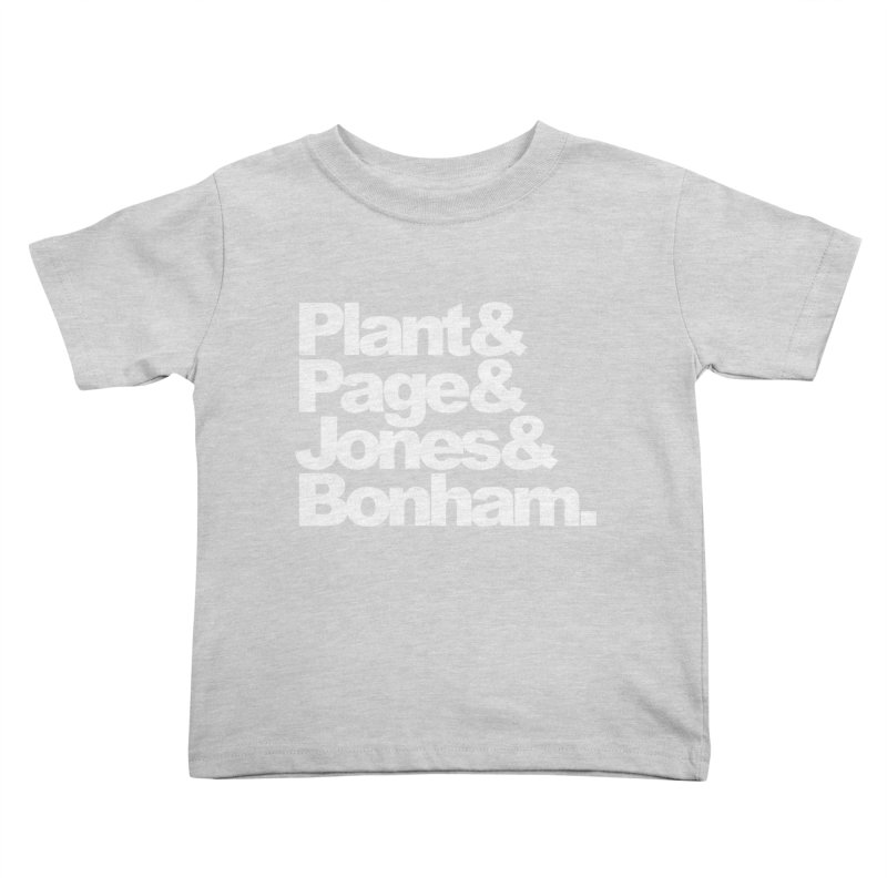 Plant and Page and Jones and Bonham - black background Kids Toddler T-Shirt by ALMA VISUAL's Artist Shop