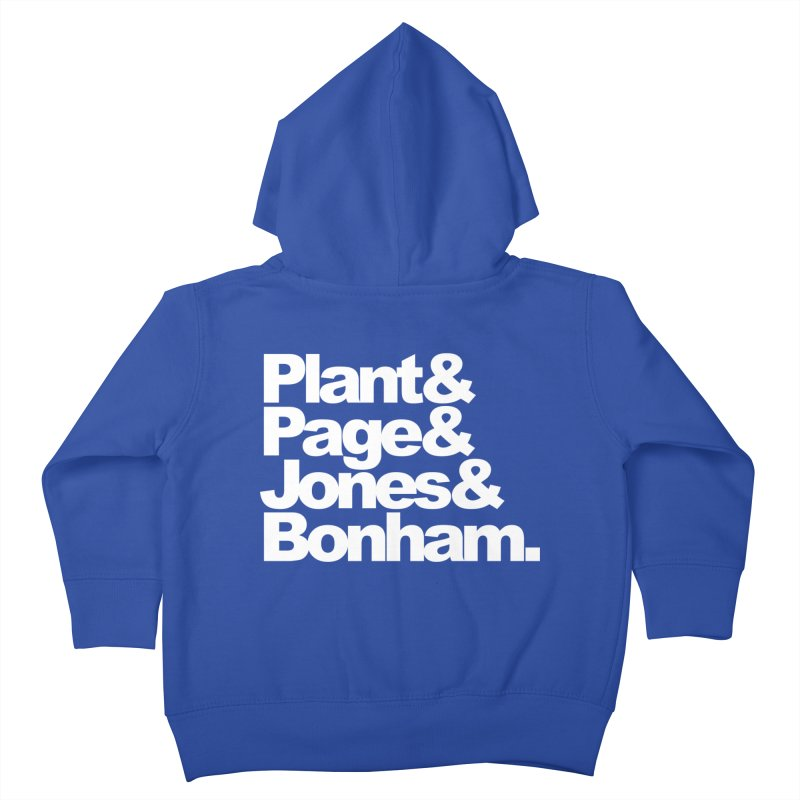 Plant and Page and Jones and Bonham - black background Kids Toddler Zip-Up Hoody by ALMA VISUAL's Artist Shop