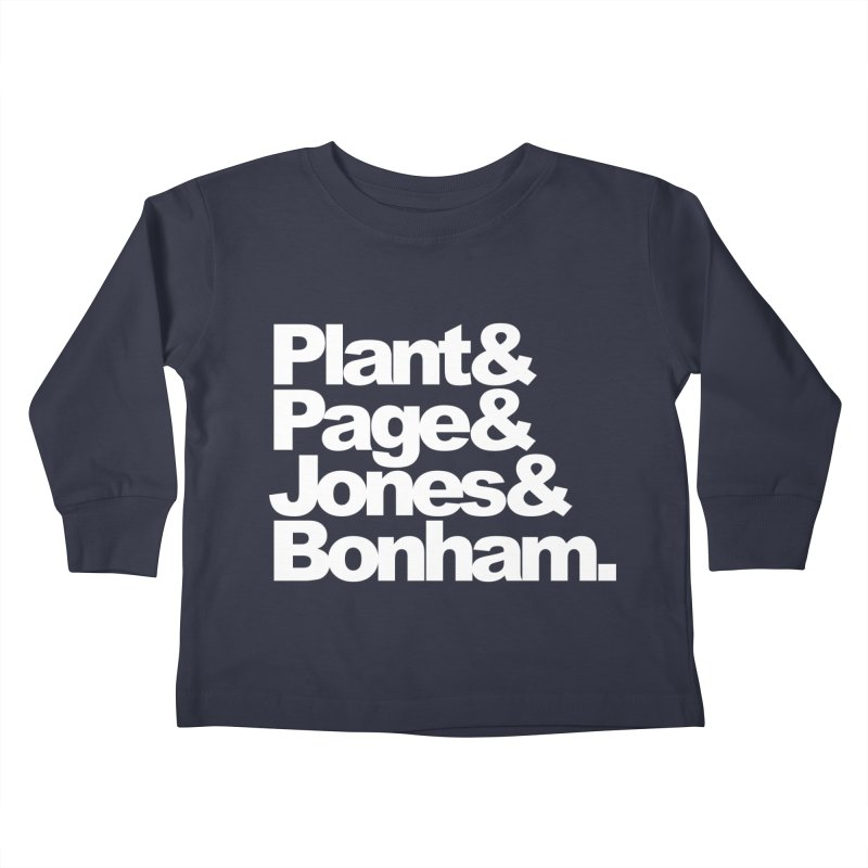 Plant and Page and Jones and Bonham - black background Kids Toddler Longsleeve T-Shirt by ALMA VISUAL's Artist Shop