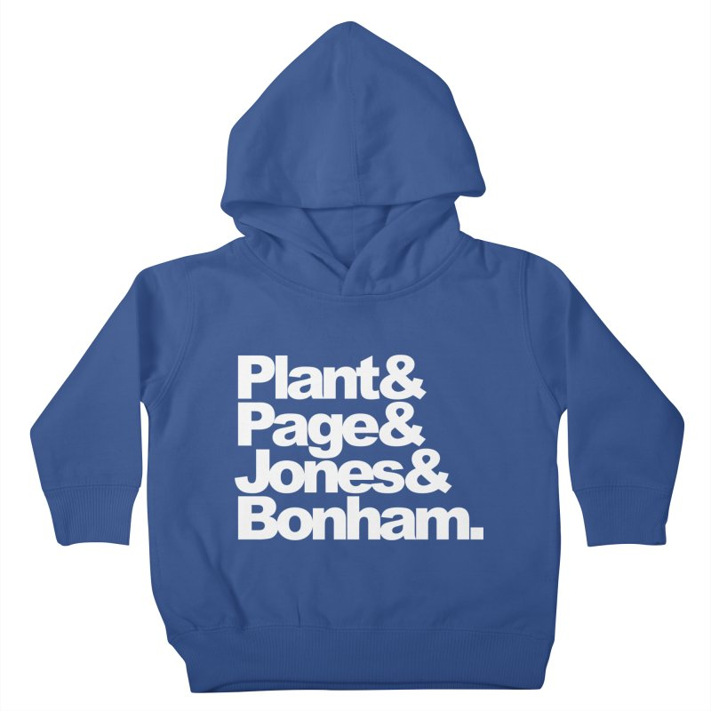 Plant and Page and Jones and Bonham - black background Kids Toddler Pullover Hoody by ALMA VISUAL's Artist Shop