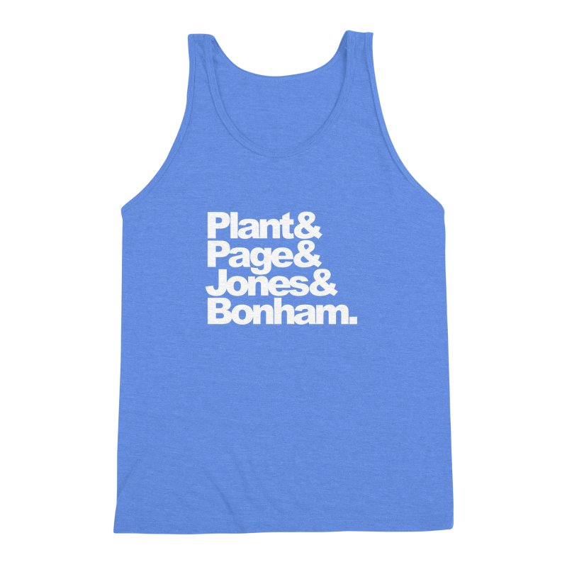 Plant and Page and Jones and Bonham - black background Men's Triblend Tank by ALMA VISUAL's Artist Shop