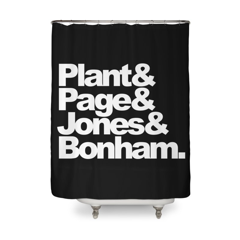 Plant and Page and Jones and Bonham - black background Home Shower Curtain by ALMA VISUAL's Artist Shop