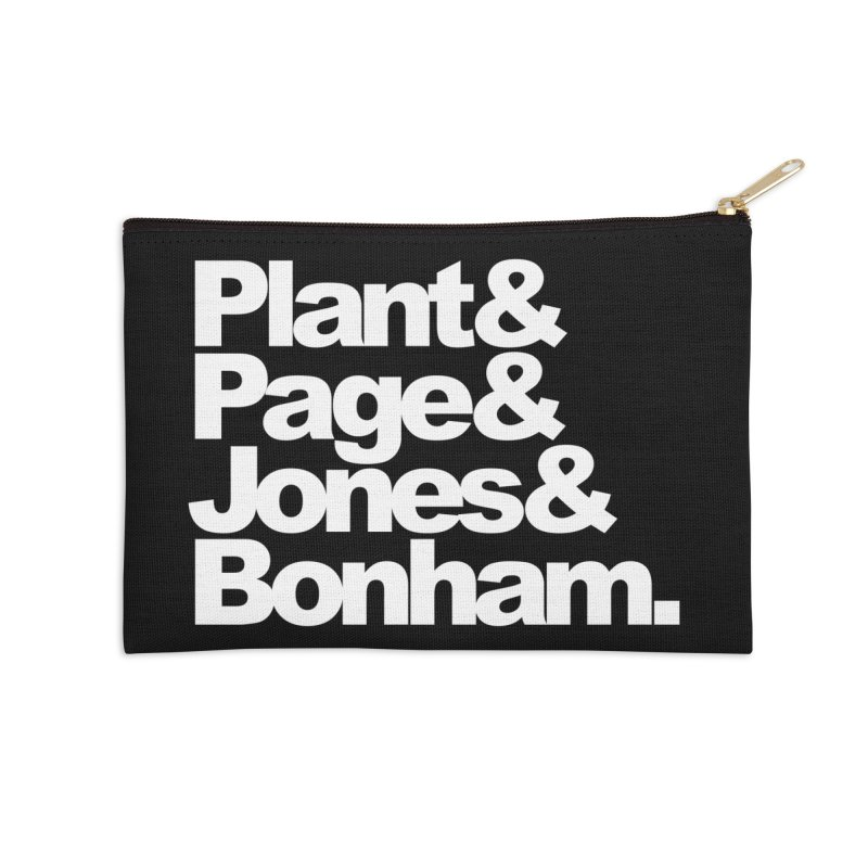 Plant and Page and Jones and Bonham - black background Accessories Zip Pouch by ALMA VISUAL's Artist Shop