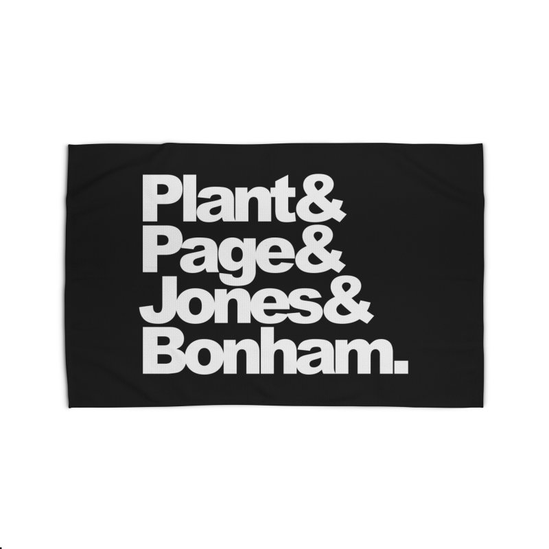 Plant and Page and Jones and Bonham - black background Home Rug by ALMA VISUAL's Artist Shop