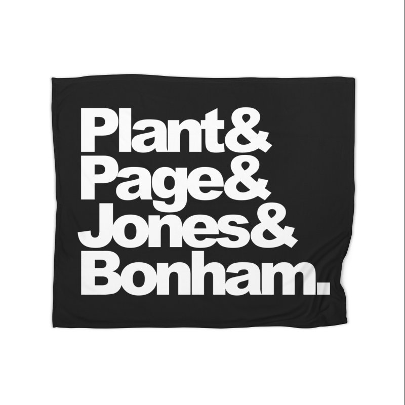 Plant and Page and Jones and Bonham - black background Home Blanket by ALMA VISUAL's Artist Shop