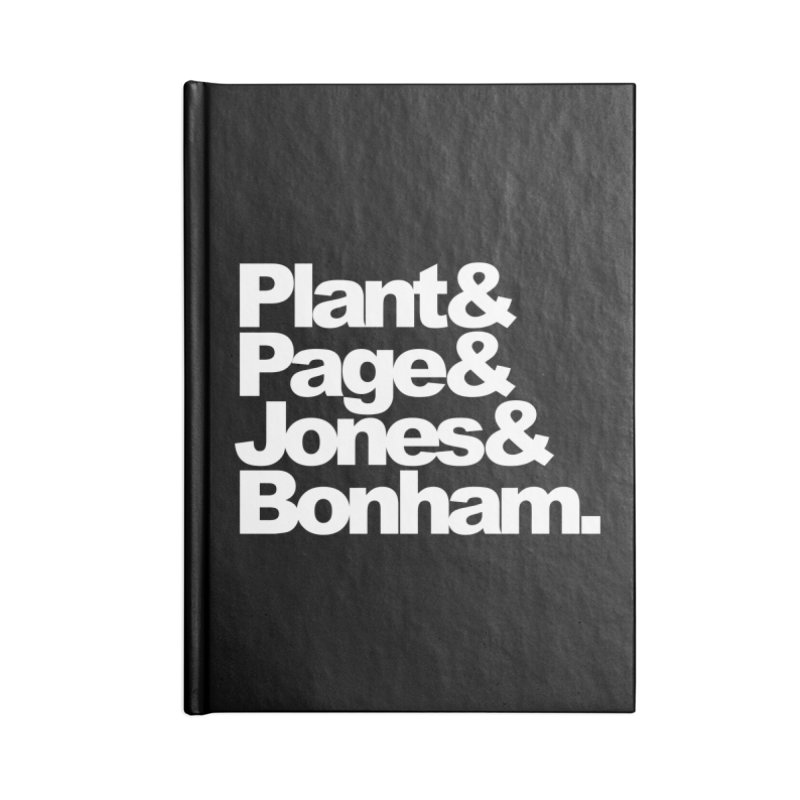 Plant and Page and Jones and Bonham - black background Accessories Notebook by ALMA VISUAL's Artist Shop