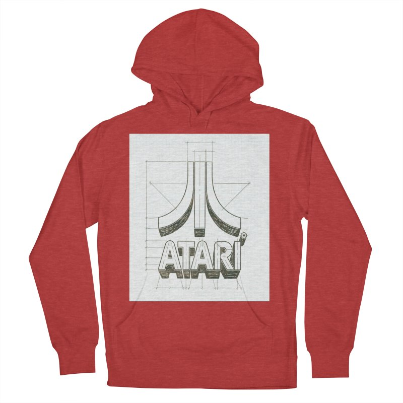 atari logo sketch Women's Pullover Hoody by ALMA VISUAL's Artist Shop