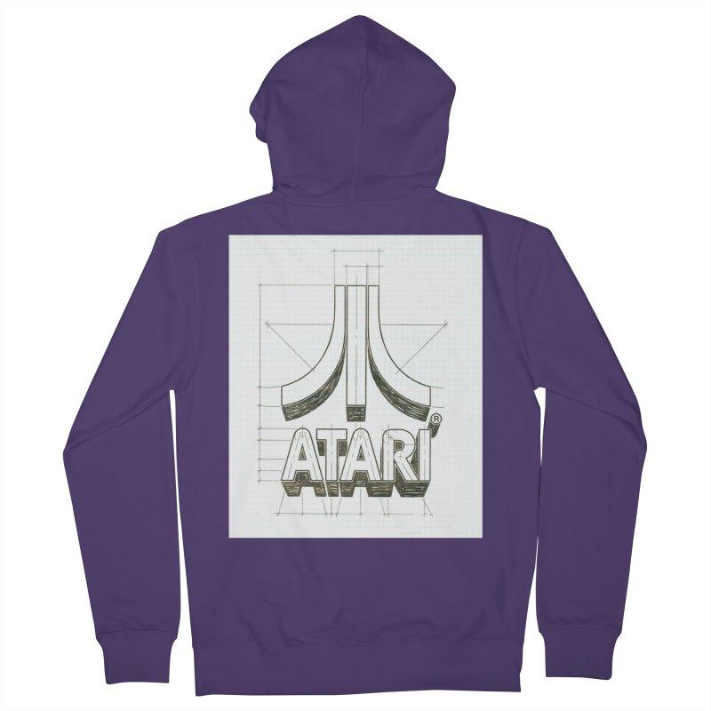 atari logo sketch Women's Zip-Up Hoody by ALMA VISUAL's Artist Shop