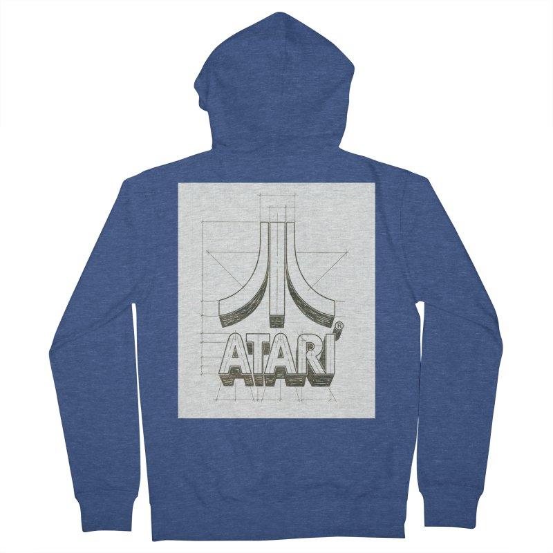 atari logo sketch Men's Zip-Up Hoody by ALMA VISUAL's Artist Shop