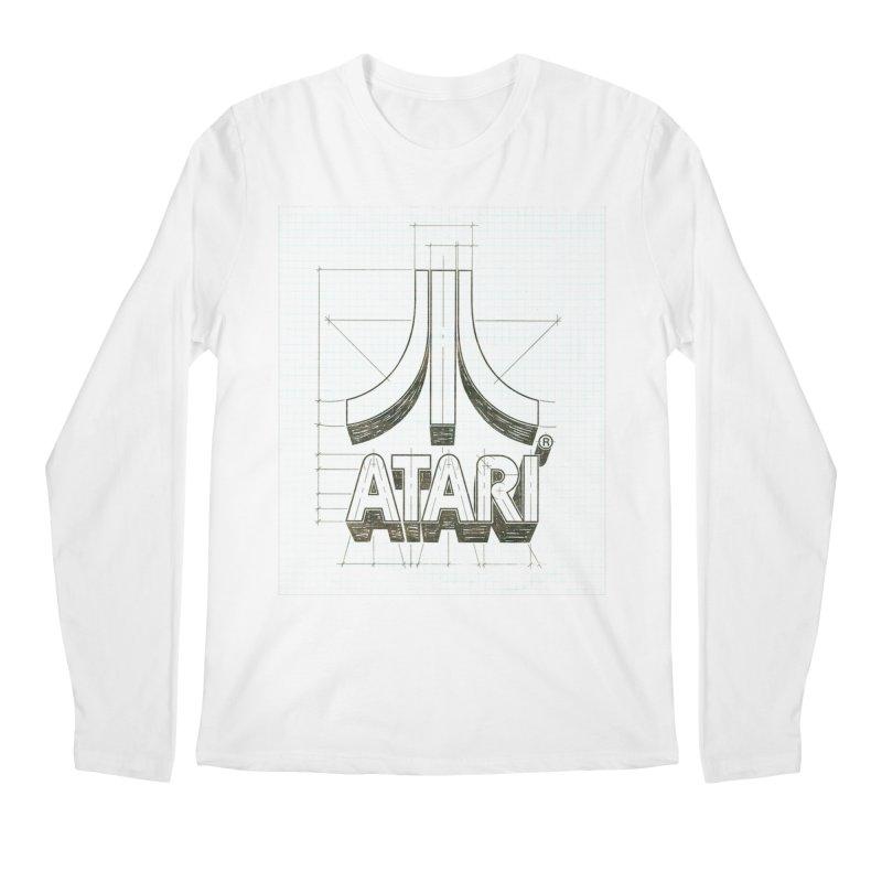 atari logo sketch Men's Longsleeve T-Shirt by ALMA VISUAL's Artist Shop