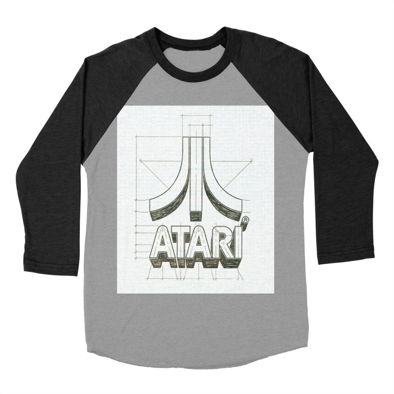 atari logo sketch Women's Baseball Triblend T-Shirt by ALMA VISUAL's Artist Shop