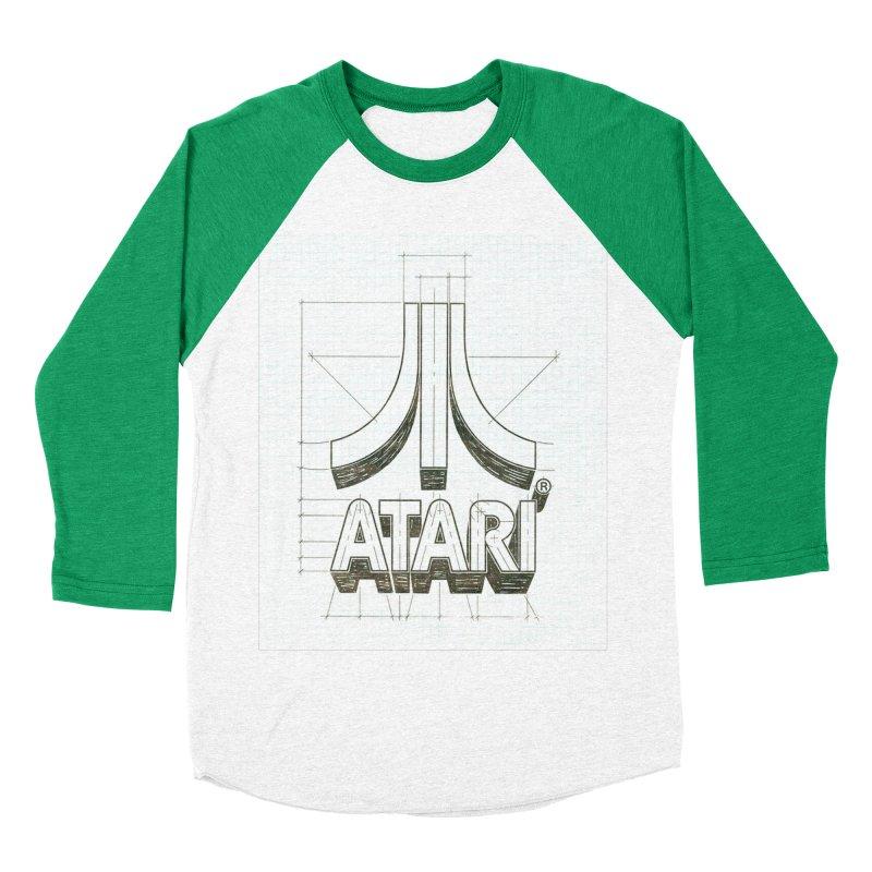 atari logo sketch Men's Baseball Triblend T-Shirt by ALMA VISUAL's Artist Shop