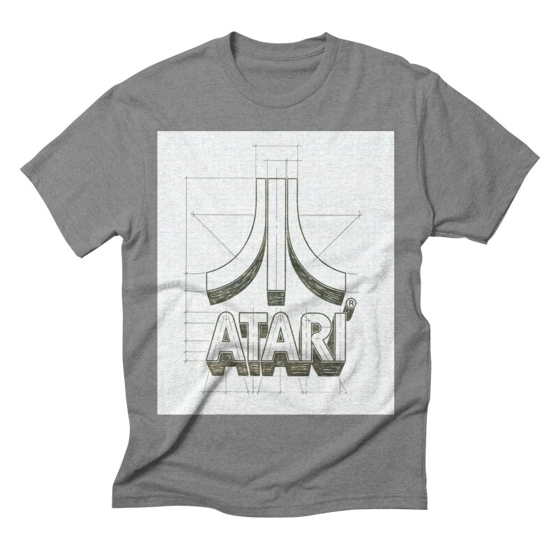 atari logo sketch Men's Triblend T-shirt by ALMA VISUAL's Artist Shop