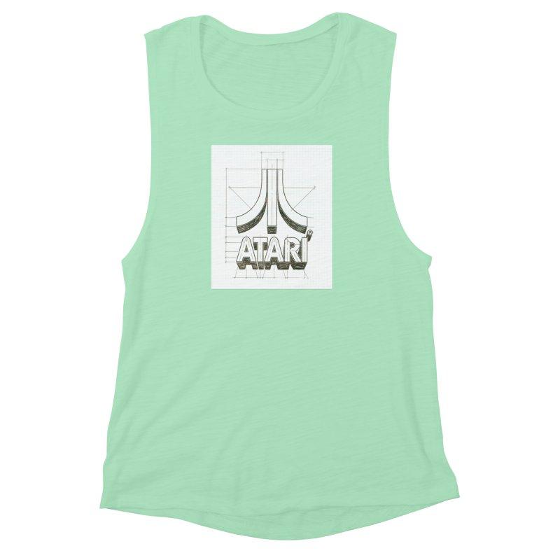 atari logo sketch Women's Muscle Tank by ALMA VISUAL's Artist Shop
