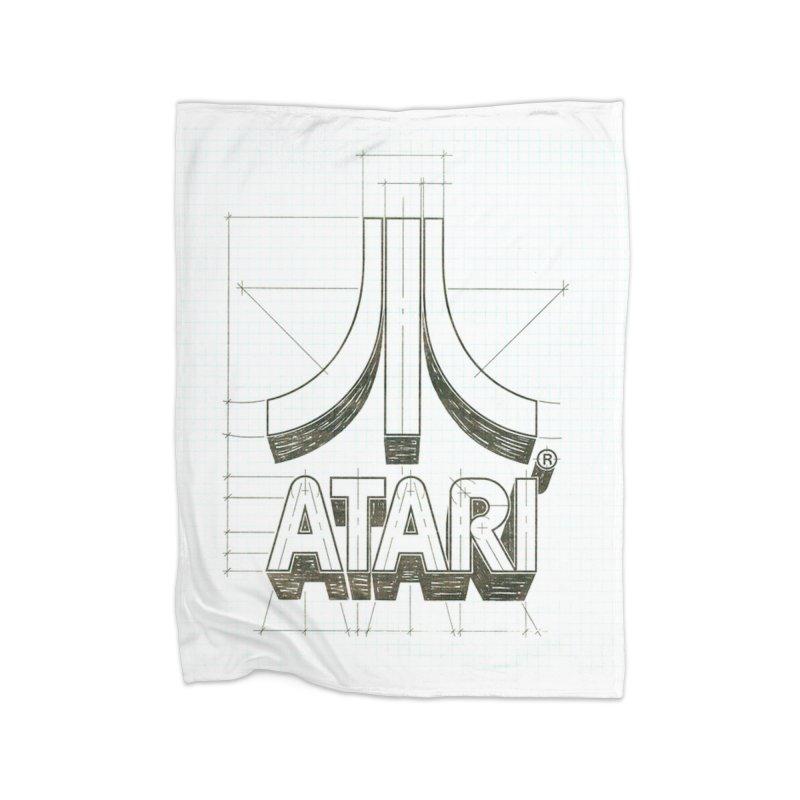 atari logo sketch Home Blanket by ALMA VISUAL's Artist Shop