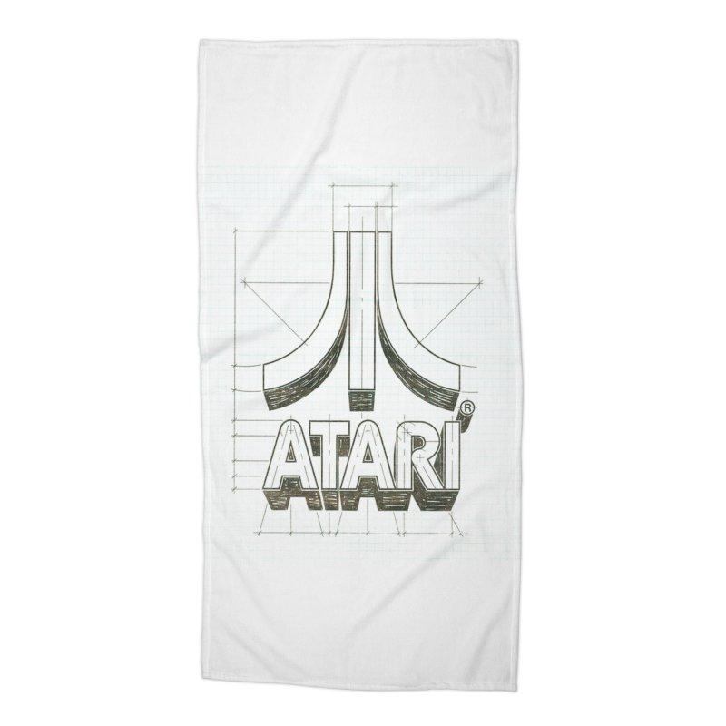 atari logo sketch Accessories Beach Towel by ALMA VISUAL's Artist Shop