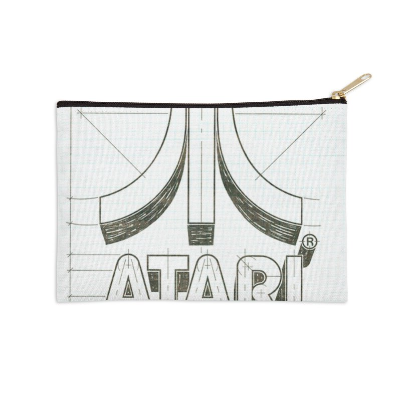 atari logo sketch Accessories Zip Pouch by ALMA VISUAL's Artist Shop