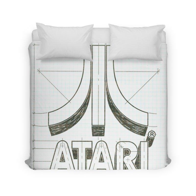 atari logo sketch Home Duvet by ALMA VISUAL's Artist Shop