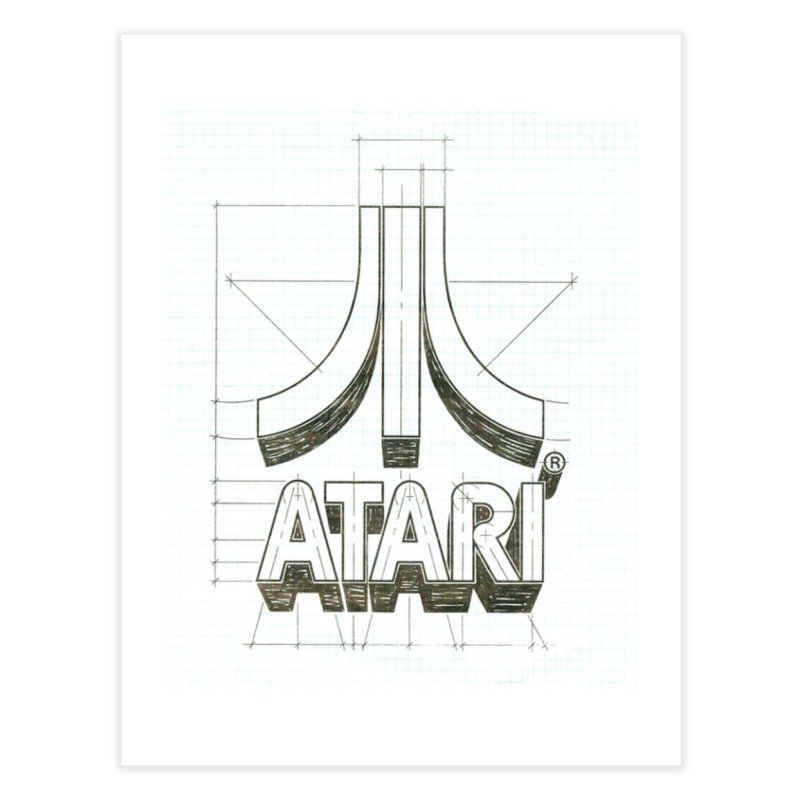 atari logo sketch Home Fine Art Print by ALMA VISUAL's Artist Shop