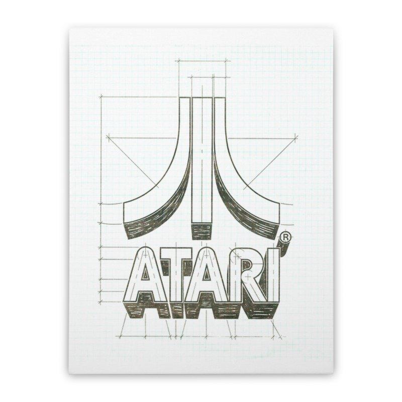 atari logo sketch Home Stretched Canvas by ALMA VISUAL's Artist Shop
