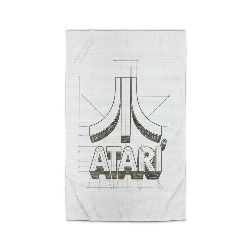 atari logo sketch Home Rug by ALMA VISUAL's Artist Shop