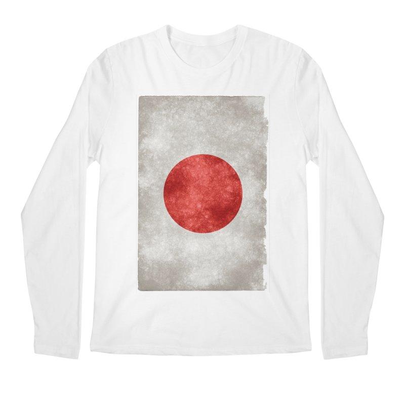 Japan Flag Men's Longsleeve T-Shirt by ALMA VISUAL's Artist Shop